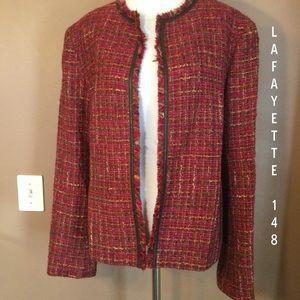 🆕 Lafayette 148 New York Wool & Leather Trim
